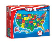 Wood N Things USA Map Floor Puzzle by Wood N Things 1227