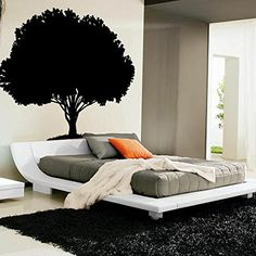 """Enormous Tree Wall Decal - 80"""" tall x 80"""" wide. Size: 80"""" wide x 80"""" tall - Easy to Apply and Remove. Made from top quality materials.Will last for years of enjoyment. All of our wall decals are made at the time of order and ship within 3-5 days. Got a RUSH ORDER? Contact us prior to ordering. ★ OUR GUARANTEE ★ We always do our best to meet or exceed your expectations. If problems arise we will promptly respond to make sure you are satisfied."""