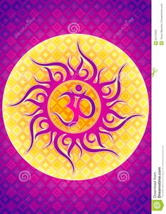 om | Illustrated design of the Om or Aum sacred symbol of the absolute in ...