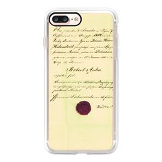 Vintage Old Lovely Handwritten Paper Postage Retro 111 - iPhone 7... ($40) ❤ liked on Polyvore featuring accessories, tech accessories, iphone case, iphone cases, retro iphone case, iphone cover case, vintage iphone case and apple iphone case