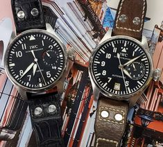 ⬅️ or ➡️ ⁉️ 👉 original version IW5002 👈 2012-2016  run  IW5009  amazing #timepieces that wear large at 46mm  #watchport #watchparty #womw #pilot #pilotlife #aviation #santosdumont would have worn it #instagood #hodinkee #ablogtowatch #elementintime #quarantineandchill #stayhomestaysafe #flattenthecurve