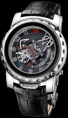 This thing is bad ass!! Called the Freak Diavolo.  This is a $130,000 watch!! thought I would note that it makes a Rolex seem like a Timex in the luxury watch category..