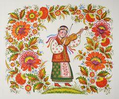 настіннмй розпис, майсти Центру народного мистецтва 'Петриківка'