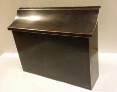 Large Flush Mount Patina Copper Mailbox - Copper Design