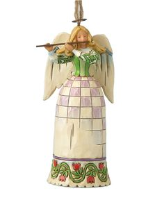 Jim Shore Christmas Ornament, Angel with Flute