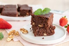Brownie z kokosovej múky (bez lepku) Garam Masala, Stevia, Sweet Recipes, Cottage Cheese, Good Food, Food And Drink, Gluten Free, Smoothie, Brownies