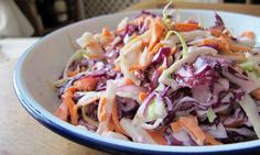 Felicity's Perfect Coleslaw (Dairy-free) | http://www.guardian.co.uk/lifeandstyle/wordofmouth/2012/oct/04/how-to-make-perfect-coleslaw