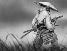 Samurai Poses, Ronin Samurai, Ronin Tattoo, Fighting Tattoo, Samurai Warrior Tattoo, Wolf Tattoos Men, Hanya Tattoo, Character Art, Character Design