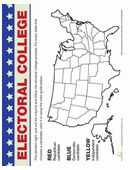 On election night, be ready to track the results with this electoral college map. Color in the states as you prepare to find out who the president will be!