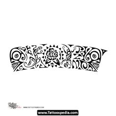 Awesome Wristband Tattoo Stencil