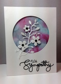 Blushing flower branch die: Simon Says Stamp, bokeh, by beesmom - Cards and Paper Crafts at Splitcoaststampers Love Cards, Diy Cards, Card Making Inspiration, Making Ideas, Bokeh, Memory Box Cards, Window Cards, Cricut Cards, Sympathy Cards