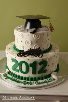The Graduate #25Graduation | Michael Angelo's Bakery - LOVE the look of the cake, but at $127.00 - no way it is worth it!