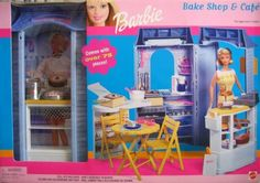 Barbie Bake Shop Cafe Playset w Over 75 Pieces (2000) by Mattel, http://www.amazon.com/dp/B002UP780S/ref=cm_sw_r_pi_dp_rCT7rb0X2PK4S