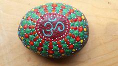 OM symbol mandala stone by ArtsOfAnanda on Etsy Om Symbol, Mandala, Tables, Stones, Symbols, Trending Outfits, Unique Jewelry, Handmade Gifts, Etsy