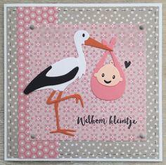 Oké, nog eentje om het af te leren: een babykaartje ! Wederom met de nieuwste (en leukste!) materialen van Marianne Design :).         Sorry...