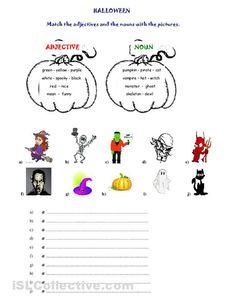 Halloween (adjectives   nouns) worksheet - Free ESL printable worksheets made by teachers