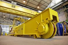 Bridge crane for Sidenor Manufacturing process of 2x8t capacity and 32m span double girder gantry crane with rotating carriage.