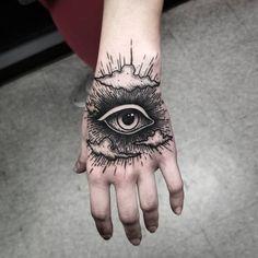 Peonies Tattoos - Popular and Cool Tattoo Designs For Girls Tattoos 3d, Body Art Tattoos, Sleeve Tattoos, Fashion Tattoos, Tattos, Hand Tats, Hand Tattoos For Guys, Hand Eye Tattoo, Cool Tattoos For Men