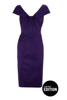 Karen Millen Satin Dress Limited Edition Purple [DM200] - $116.00 : Karen Millen Outlet,Karen Millen Dresses,Karen Millen Coats