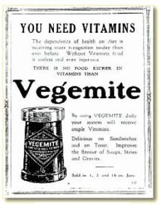"Vegemite advertisement appearing in ""Women's World circa 1925"""