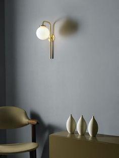 Cto Lighting Big Bulb Opal wall lamp
