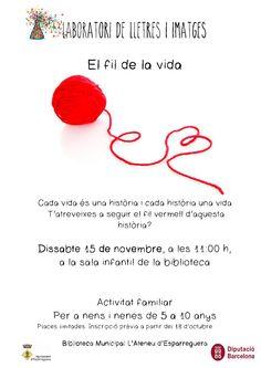 Dissabte 15 de novembre a les 11h LABORATORI DE LLETRES I IMATGES.  Ja us podeu inscriure