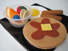 Felt Food Breakfast Special Pancakes by FiddledeeDeeCraft on Etsy, $30.00