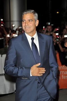 george clooney grey suit - Google Search