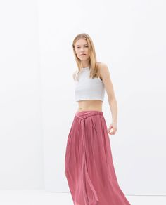 Image 2 of LONG FLOWING SKIRT from Zara