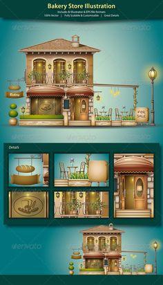 Bakery Store Illustration