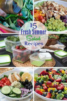 15 Fresh Summer Salad Recipes ~ #FreshWorksCrowd #ad