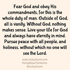 All Is Vanity, Christian Life Coaching, Do Everything In Love, Gods Timing, Fear Of The Lord, Faith Prayer, Addiction Recovery, Word Of God, Christian Quotes