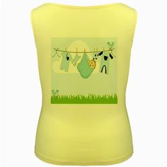 Baby+Boy+Clothes+Line+Women's+Yellow+Tank+Top