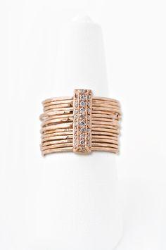 @Jacqui Maher Maher Eames Aiche 14K PAVE DIAMOND BRICK MULTI WAIF RING