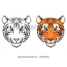 tiger face template/reference for gabes cake