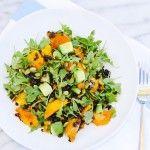 Braised Lentil Salad with Roasted Kabocha, Arugula
