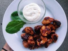 These. Are. The. BEST. Crunchy, spicy, addicting- these are everything you would want in a big plate of wings, minus the meat! Pair with a few celery sticks and some blue cheese for dipping. Ugh. Y…