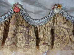 I love the ethereal sense of lace . the opulence or the sheer delicacy of lace ~ sometimes resembling spider webs ., the feel, details and rich patterns. C: This is Antique French lace Vintage Shabby Chic, Vintage Lace, Vintage Room, Ribbon Work, Silk Ribbon, Antique Lace, Antique Dolls, Passementerie, Frou Frou