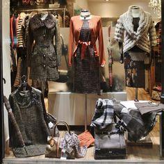 #Escaparate #Moda #Naranjas #Tweed #Ocre