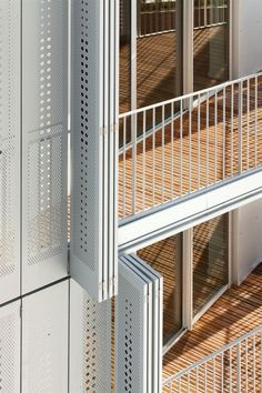 Perforated sliding steel shutters