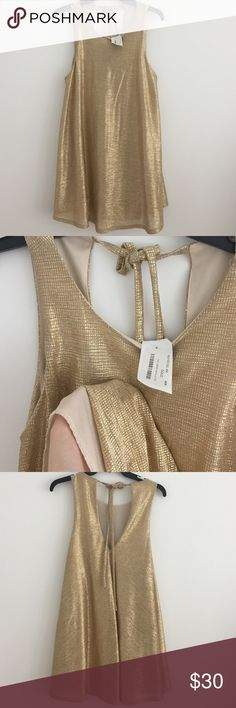 Gold shift dress Brand new never worn boutique Dresses Mini