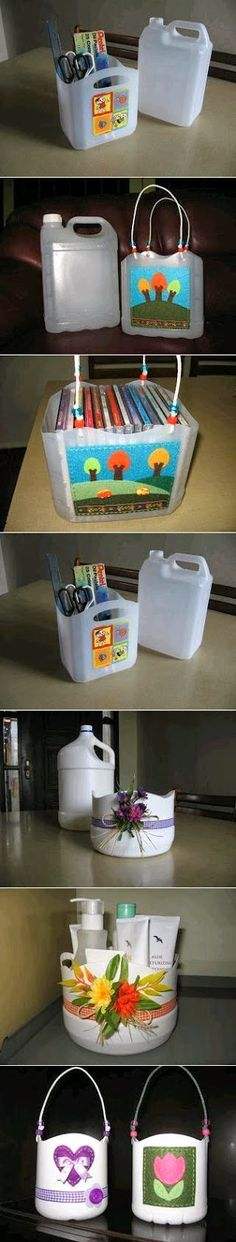 Recycling Plastic Bottle Baskets  When recycling  plastic bottle baskets you can make another use of them. For example,  after remov...
