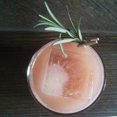 El Buho mezcal, homemade guava puree, rosemary- and jalapeno-infused agave, fresh lime juice, and a spring of rosemary - @juliusxtla