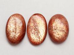 3Pcs 60Cts 17X26mm 100% Natural Sunstone mix Oval Shape Jewelry Making Handmade Hand Polish Cabochon Smooth Cut Pendant Making Gemstone by zakariyagems on Etsy