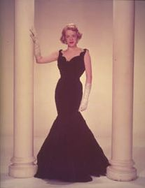 Rosemary Clooney in the black dress from White Christmas - for when I'm invited to the MET Costume Ball.