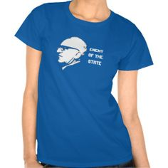 Style Enemy of the State with Murray Rothbard -  Camiseta