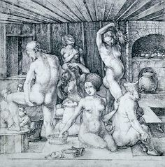 Bath Time: photograph of a drawing by Albrecht Durer, circa 1496. Available on fineartamerica. http://xposed-bydesign.fineartamerica.com