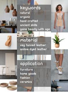 Eclectic Trends -It's trending: leather goods for living  #microtrends #2015