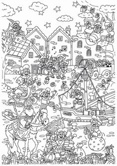 Discover recipes, home ideas, style inspiration and other ideas to try. Colouring Pages, Adult Coloring Pages, Coloring Sheets, Coloring Books, Saint Nicolas, Winter Wonder, Christmas Colors, Challenge, Diy For Kids