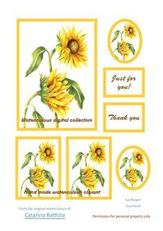 Carte numérique tournesol. Papier imprimable. Papier d'artisanat, Carte de voeux, Carte postale, Ephemera, Junk Journal, Collage, Scrapbooking, Découplage Scrapbooking Flowers, Sunflower Cards, Art Projects, My Etsy Shop, Greeting Cards, Just For You, Collage, Clip Art, Journal